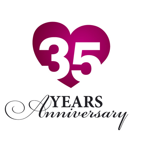 35: 35 years anniversary white background