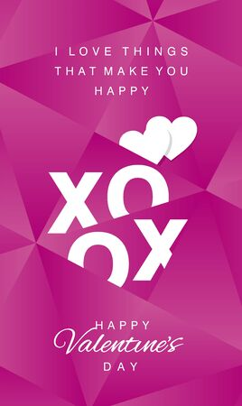 xoxo: Love Hugs and kisses abstract pink vector