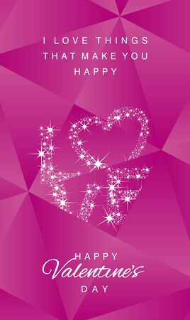 abstract love: Love stars Happy Valentines Day abstract pink vector