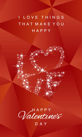 abstract love: Love stars Happy Valentines Day abstract red vector