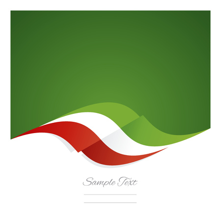 mexican flag: Abstract Mexican flag ribbon green background Illustration