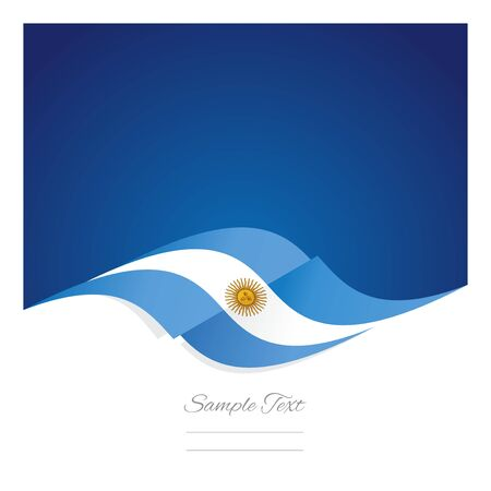 argentinean: Abstract Argentinean flag ribbon blue background
