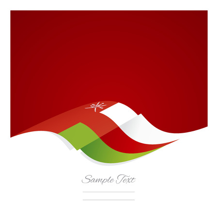 oman background: Abstract Oman flag ribbon red background