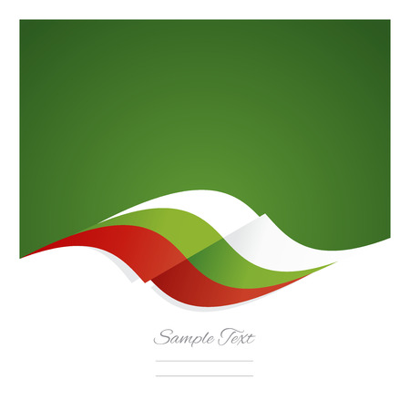 bulgarian: Abstract Bulgarian flag ribbon green background Illustration