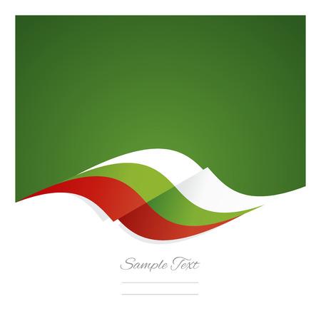Résumé ruban de drapeau bulgare fond vert