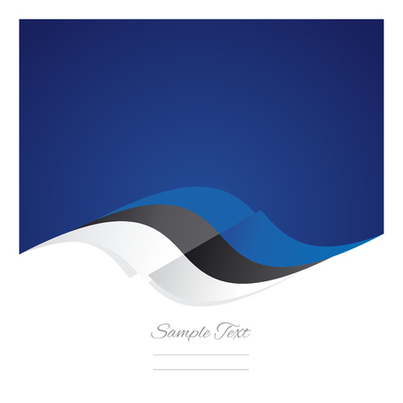 estonian: Abstract Estonian flag ribbon blue background