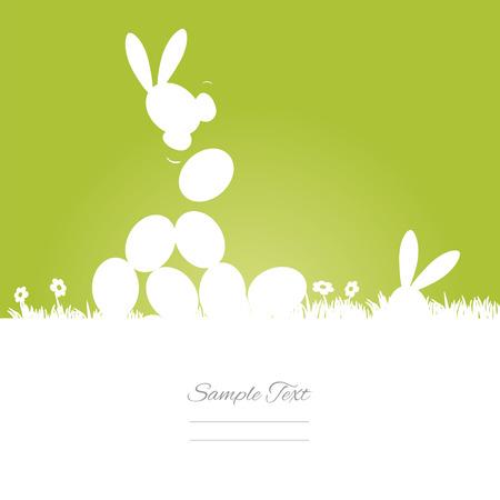 egg hunt: Egg hunt green background Illustration