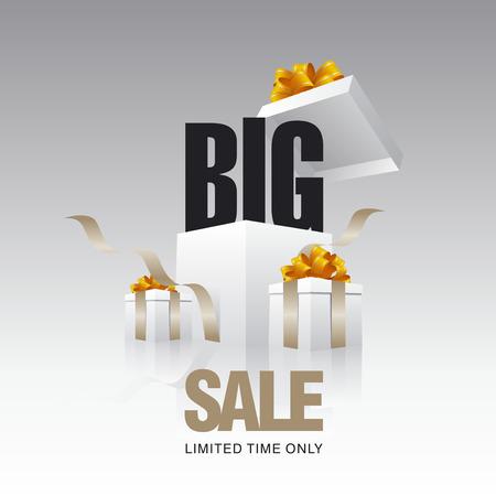 gray: BIG sale card gray background