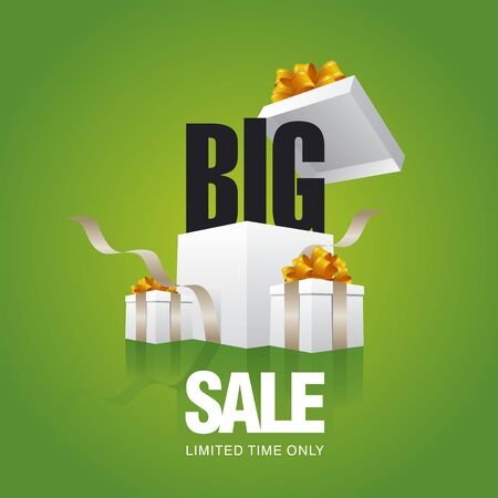 trade off: BIG sale card green background