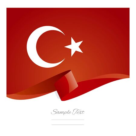 turkish flag: Turkey abstract color flag symbol vector
