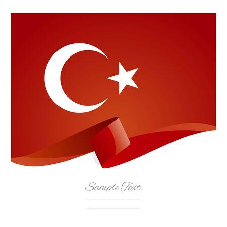 Turquie abstrait couleur symbole du drapeau vecteur