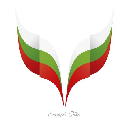 tapes: Abstract Bulgarian eagle flag ribbon logo white background Illustration