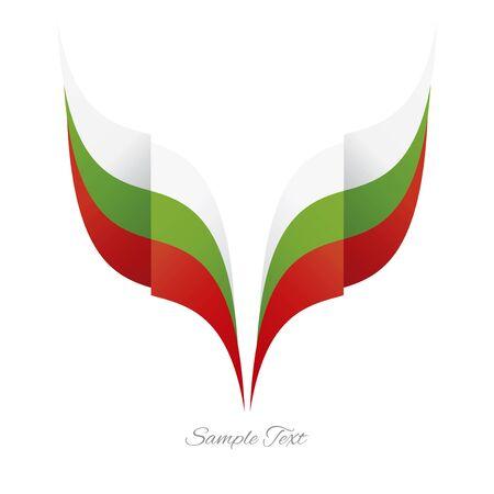 cintas: logotipo de la cinta del indicador águila búlgara extracto fondo blanco