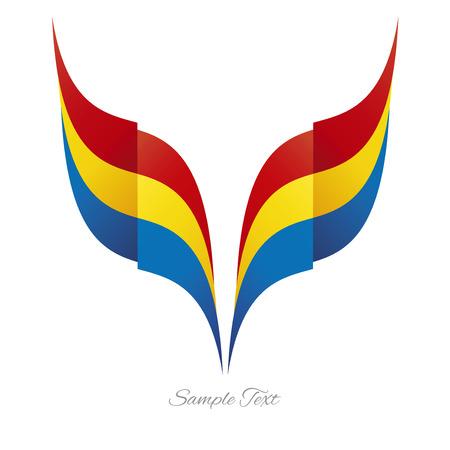 cintas: logotipo de la cinta del indicador águila rumana extracto fondo blanco