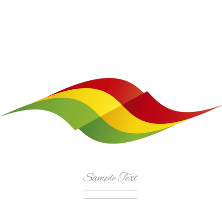 bolivian: Abstract Bolivian flag ribbon logo white background
