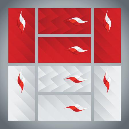 poland: Poland flag ribbon logo abstract card cover background Illustration