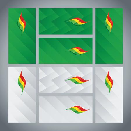 Bolivia flag ribbon logo abstract card cover background Logo
