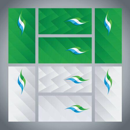 sierra leone: Sierra Leone flag ribbon logo abstract card cover background