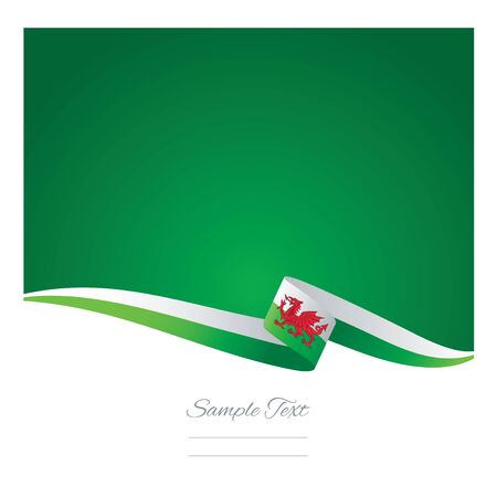 welsh: Abstract color background Wales flag vector