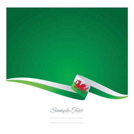 welsh flag: Colore di sfondo astratto vettore di bandiera del Galles