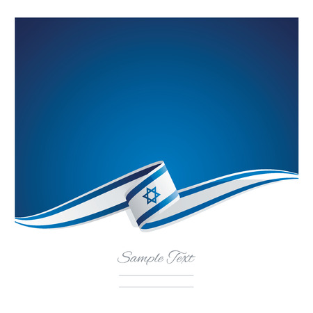 New abstract Israel flag ribbon 免版税图像 - 56465199
