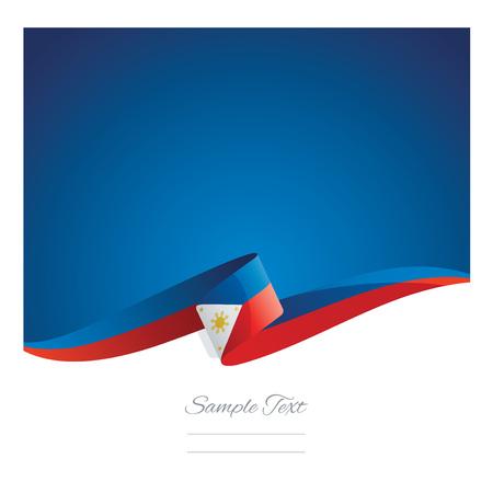 New abstract Philippines flag ribbon Illustration
