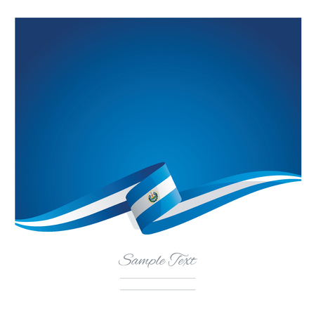 el salvador: New abstract El Salvador flag ribbon Illustration