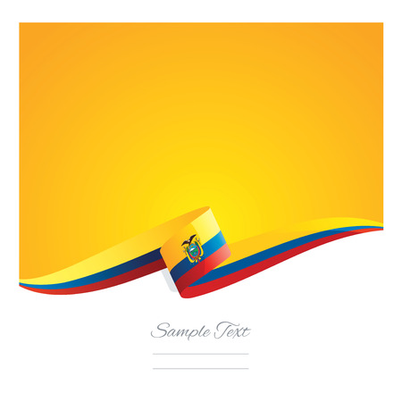 New abstract Ecuador flag ribbon