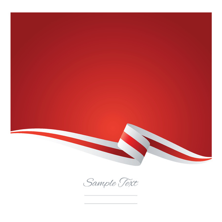 red and white: Abstract white red ribbon vector