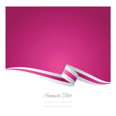 bianco Abstract vettore nastro rosa
