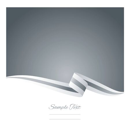 silver ribbon: Abstract white silver ribbon vector