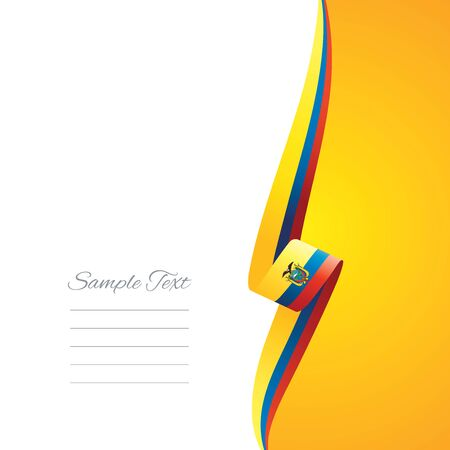 right side: Ecuador right side brochure cover vector