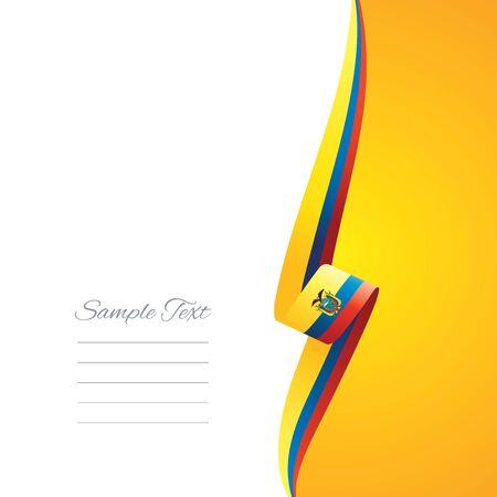 ecuador: Ecuador right side brochure cover vector