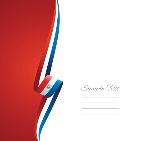 paraguay: Paraguay left side brochure cover vector