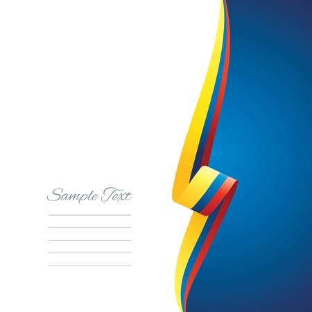 right side: Colombia right side brochure cover vector