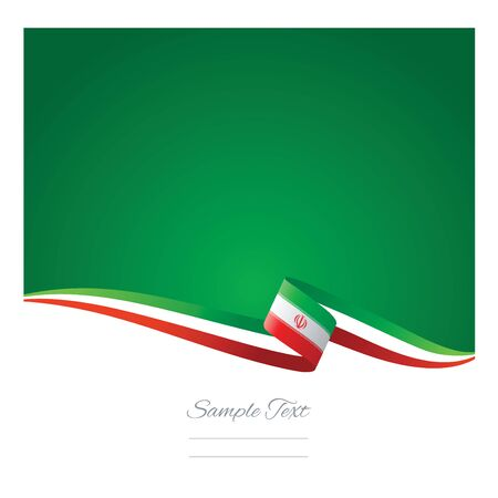 Abstract color background Iran flag vector Illustration