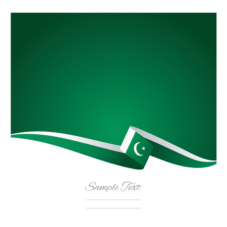 pakistan flag: Abstract color background Pakistan flag vector Illustration