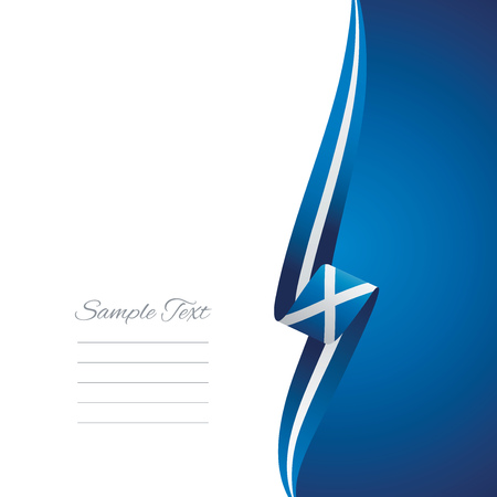 right side: Scotland right side brochure cover vector