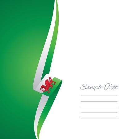 welsh flag: Galles lato sinistro brochure copertura vettore