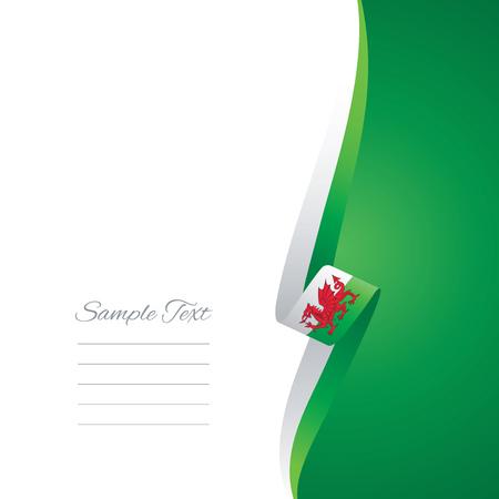 welsh flag: Galles lato destro brochure copertura vettore