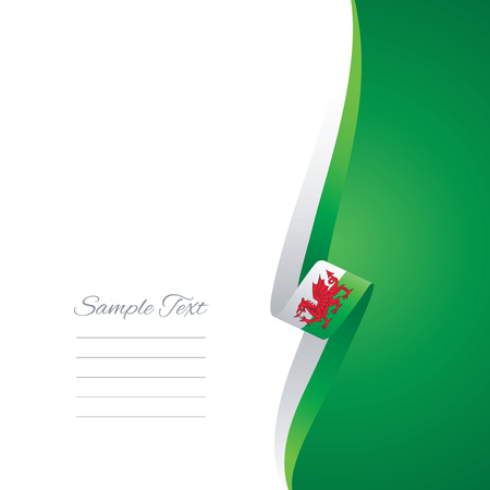 welsh: Wales right side brochure cover vector Illustration