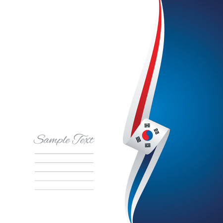 right side: South Korea right side brochure cover vector