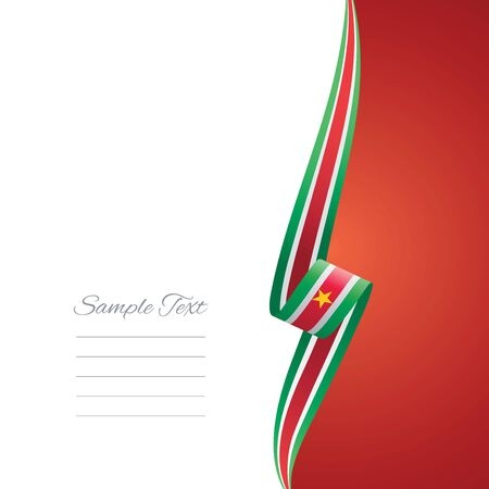right side: Suriname right side brochure cover vector