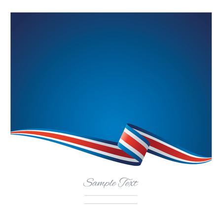 Abstracte kleur achtergrond vlag van Costa Rica vector