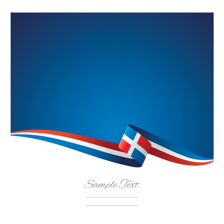Abstract color background Dominican Republic flag vector