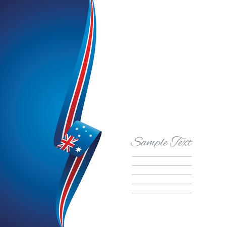 ribbon background: Australia left side brochure cover vector
