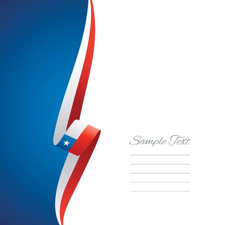 bandera de chile: Chile lado izquierdo portada del folleto del vector