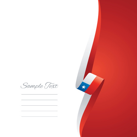 Chile right side brochure cover vector