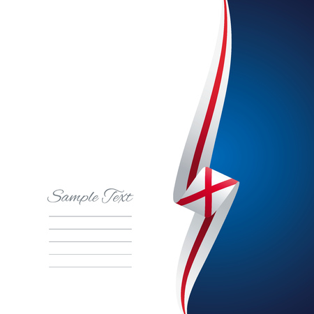 right side: Alabama right side brochure cover vector