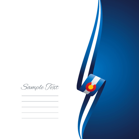 right side: Colorado right side brochure cover vector